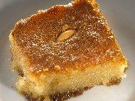 Рецепта Грис галва с бадеми и канела